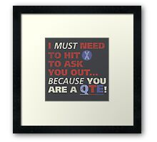 You are a QTE Framed Print