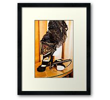 Corset, Heels and a Baton Framed Print