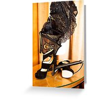 Corset, Heels and a Baton Greeting Card