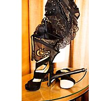 Corset, Heels and a Baton Photographic Print