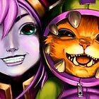 League Of Legends - Lulu & Gnar by mariafumada