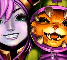 League Of Legends - Lulu & Gnar by mariafumada