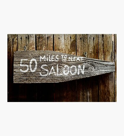 Wild West Saloon Sign Photographic Print