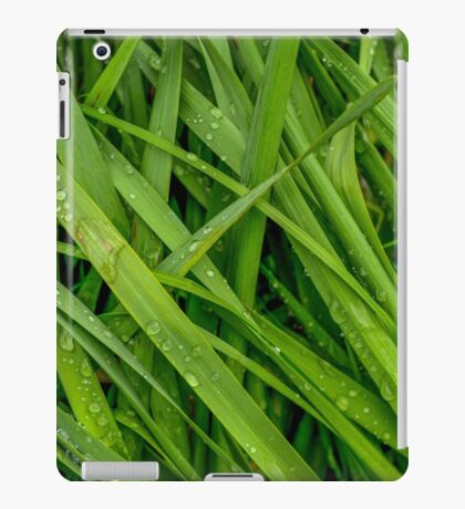 Wet Summer Grass iPad Case/Skin