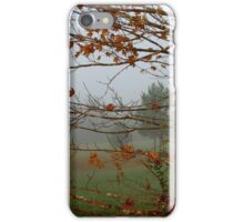 Foggy Fall Morning iPhone Case/Skin
