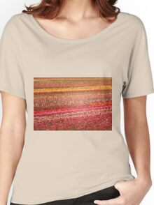 Tulip Fields in Stained Glass Women's Relaxed Fit T-Shirt