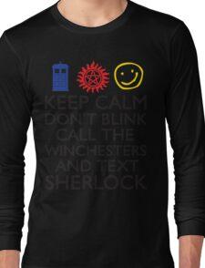 SUPERWHOLOCK SUPERNATURAL DOCTOR WHO SHERLOCK Long Sleeve T-Shirt