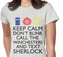 SUPERWHOLOCK SUPERNATURAL DOCTOR WHO SHERLOCK Womens Fitted T-Shirt