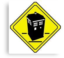 TARDIS Crossing Canvas Print