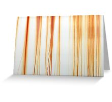 Dripping Rust Pattern Greeting Card
