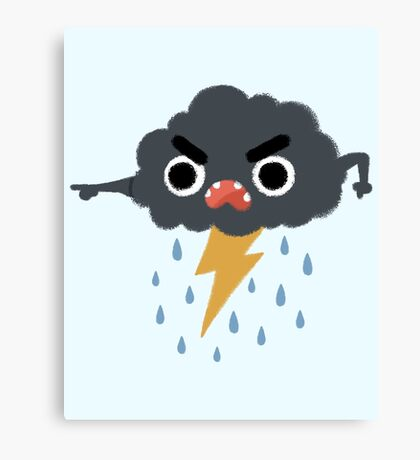 Grumpy Cloud Canvas Print