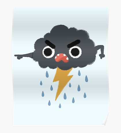 Grumpy Cloud Poster