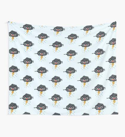 Grumpy Cloud Wall Tapestry