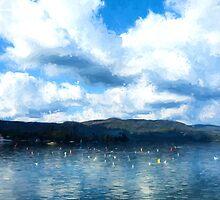 Lake Background by Corina Daniela Obertas