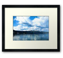 Lake Background Framed Print
