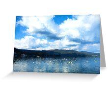 Lake Background Greeting Card