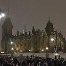 East Block - Parliament Hill, Ottawa, NY eve by Jim Cumming