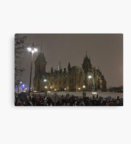 East Block - Parliament Hill, Ottawa, NY eve Canvas Print
