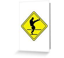Silly Walks Crossing Greeting Card