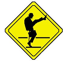 Silly Walks Crossing Photographic Print