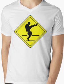 Silly Walks Crossing Mens V-Neck T-Shirt
