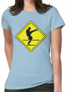 Silly Walks Crossing Womens Fitted T-Shirt