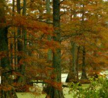 Autumn On Hills Lake  Sticker