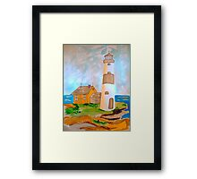 The Lighthouse by the Sea Framed Print