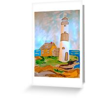 The Lighthouse by the Sea Greeting Card