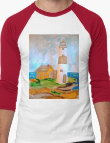 The Lighthouse by the Sea Men's Baseball ¾ T-Shirt