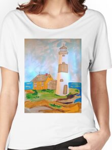 The Lighthouse by the Sea Women's Relaxed Fit T-Shirt