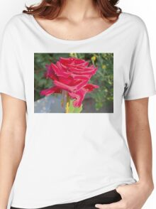 Beautiful red rose Women's Relaxed Fit T-Shirt