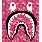 shark bape goyard pink by pranajaabida