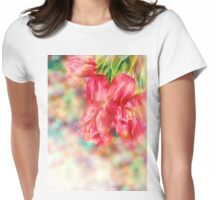 Bokeh Background with Tulips Womens Fitted T-Shirt
