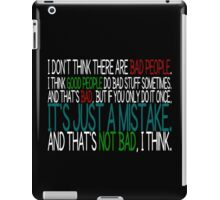 [White] Just A Mistake iPad Case/Skin