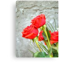 Bouquet with Red Roses 3 Canvas Print