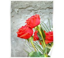 Bouquet with Red Roses 3 Poster