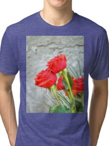 Bouquet with Red Roses 3 Tri-blend T-Shirt