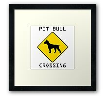 Pit Bull Crossing Framed Print