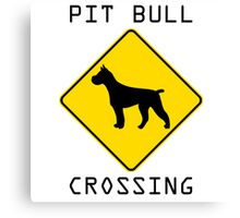 Pit Bull Crossing Canvas Print