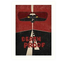 Death Proof Movie Poster / No titles / Art Print