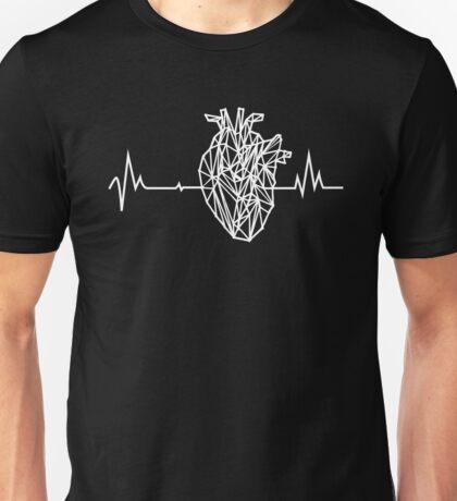 Geometric Anatomical Heartbeat Unisex T-Shirt