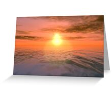 Angies Sunset Greeting Card