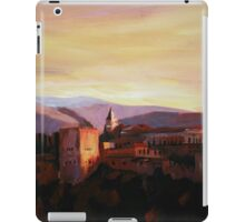 Alhambra Granada Spain With Snow Covered Mountains From Albaicin iPad Case/Skin
