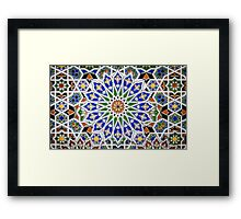 Arabic Style Vintage Patterned Tiles Framed Print