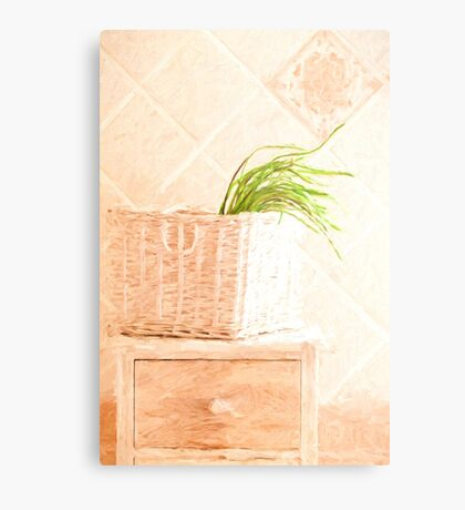 Wild Asparagus Provence Style Metal Print