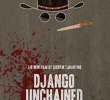 Django Unchained Movie Poster by Jane Terekhov