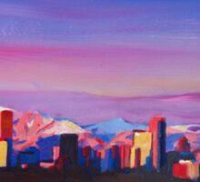 Denver Colorado Skyline With Luminous Rocky Mountains Sticker