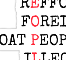 REFUGEES ARE PEOPLE Sticker