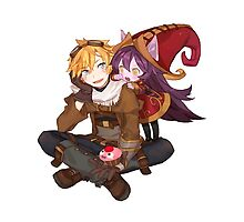 League Of Legends - Ezreal & Lulu by mariafumada